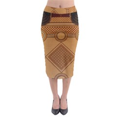 Mosaic The Elaborate Floor Pattern Of The Sydney Queen Victoria Building Midi Pencil Skirt