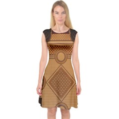 Mosaic The Elaborate Floor Pattern Of The Sydney Queen Victoria Building Capsleeve Midi Dress