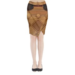 Mosaic The Elaborate Floor Pattern Of The Sydney Queen Victoria Building Midi Wrap Pencil Skirt