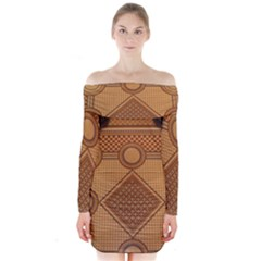 Mosaic The Elaborate Floor Pattern Of The Sydney Queen Victoria Building Long Sleeve Off Shoulder Dress