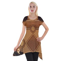 Mosaic The Elaborate Floor Pattern Of The Sydney Queen Victoria Building Short Sleeve Side Drop Tunic