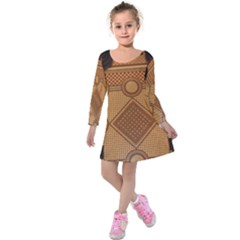 Mosaic The Elaborate Floor Pattern Of The Sydney Queen Victoria Building Kids  Long Sleeve Velvet Dress