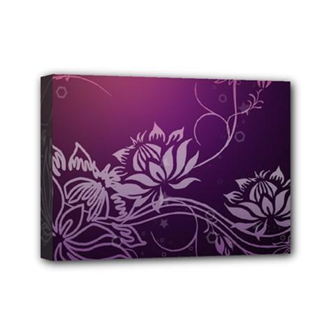 Purple Lotus Mini Canvas 7  x 5