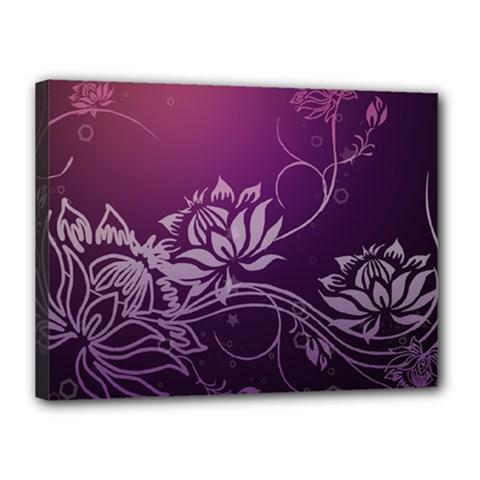 Purple Lotus Canvas 16  x 12