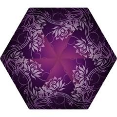 Purple Lotus Mini Folding Umbrellas