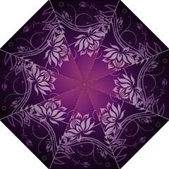 Purple Lotus Hook Handle Umbrellas (Medium)