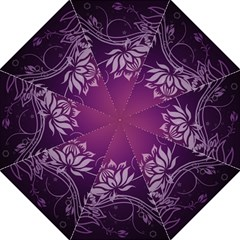 Purple Lotus Hook Handle Umbrellas (Large)