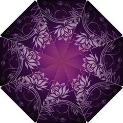 Purple Lotus Hook Handle Umbrellas (Small)