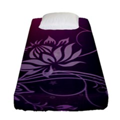 Purple Lotus Fitted Sheet (Single Size)