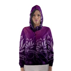Purple Lotus Hooded Wind Breaker (Women)