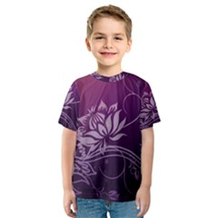 Purple Lotus Kids  Sport Mesh Tee