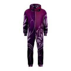 Purple Lotus Hooded Jumpsuit (Kids)