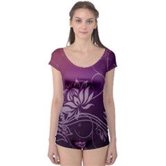Purple Lotus Boyleg Leotard