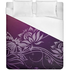 Purple Lotus Duvet Cover (California King Size)