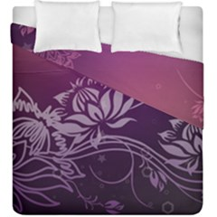 Purple Lotus Duvet Cover Double Side (King Size)