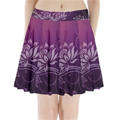 Purple Lotus Pleated Mini Skirt
