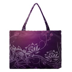 Purple Lotus Medium Tote Bag
