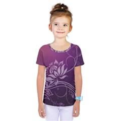 Purple Lotus Kids  One Piece Tee