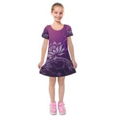 Purple Lotus Kids  Short Sleeve Velvet Dress