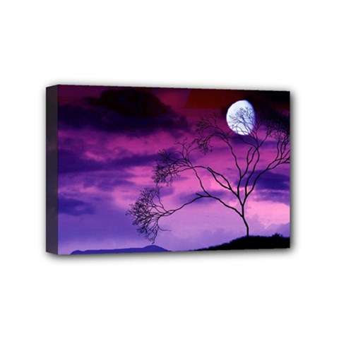 Purple Sky Mini Canvas 6  x 4