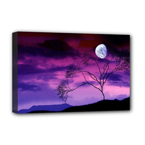 Purple Sky Deluxe Canvas 18  x 12