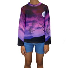 Purple Sky Kids  Long Sleeve Swimwear