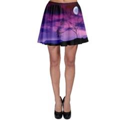 Purple Sky Skater Skirt