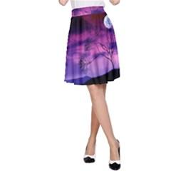 Purple Sky A-Line Skirt