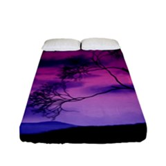 Purple Sky Fitted Sheet (Full/ Double Size)