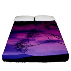 Purple Sky Fitted Sheet (Queen Size)