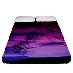 Purple Sky Fitted Sheet (King Size)