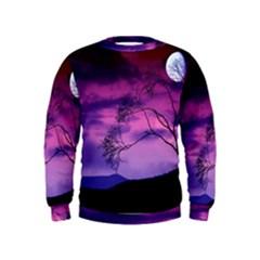 Purple Sky Kids  Sweatshirt