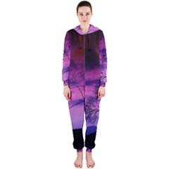 Purple Sky Hooded Jumpsuit (Ladies)
