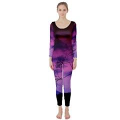 Purple Sky Long Sleeve Catsuit