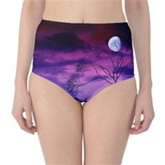 Purple Sky High-Waist Bikini Bottoms