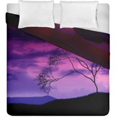 Purple Sky Duvet Cover Double Side (King Size)
