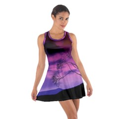 Purple Sky Cotton Racerback Dress