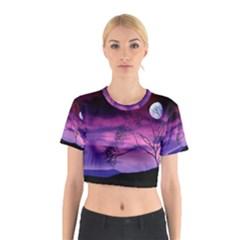 Purple Sky Cotton Crop Top