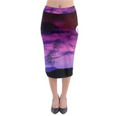 Purple Sky Midi Pencil Skirt