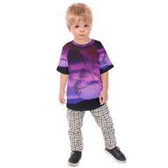 Purple Sky Kids  Raglan Tee