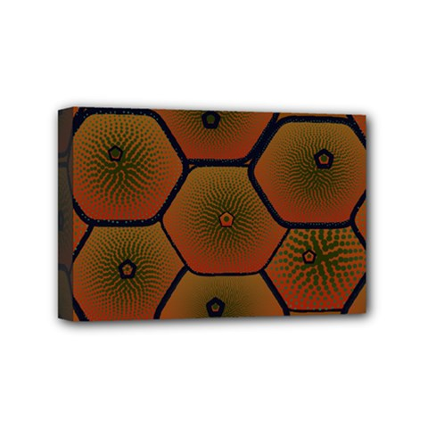 Psychedelic Pattern Mini Canvas 6  x 4