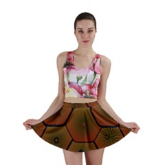 Psychedelic Pattern Mini Skirt