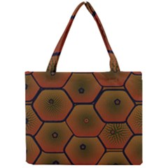 Psychedelic Pattern Mini Tote Bag