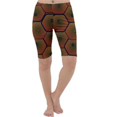 Psychedelic Pattern Cropped Leggings