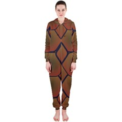 Psychedelic Pattern Hooded Jumpsuit (Ladies)