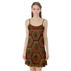 Psychedelic Pattern Satin Night Slip