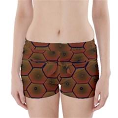 Psychedelic Pattern Boyleg Bikini Wrap Bottoms