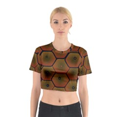 Psychedelic Pattern Cotton Crop Top