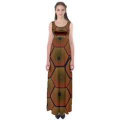 Psychedelic Pattern Empire Waist Maxi Dress