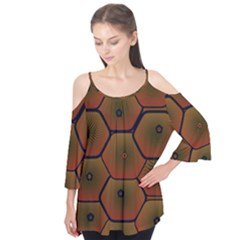 Psychedelic Pattern Flutter Tees